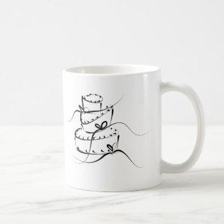 Topsy Turvy Wedding Cake Basic White Mug