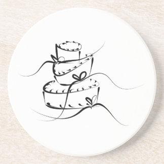 Topsy Turvy Wedding Cake Drink Coaster