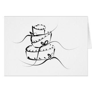 Topsy Turvy Wedding Cake Greeting Card