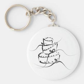 Topsy Turvy Wedding Cake Key Chain