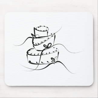 Topsy Turvy Wedding Cake Mouse Pad