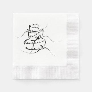 Topsy Turvy Wedding Cake - Paper Napkins