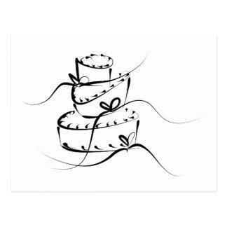 Topsy Turvy Wedding Cake Postcard