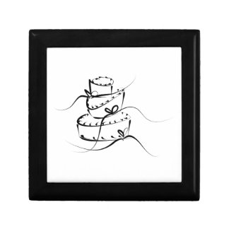 Topsy Turvy Wedding Cake Small Square Gift Box