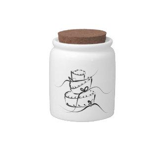 Topsy Turvy Wedding Cake Candy Jars