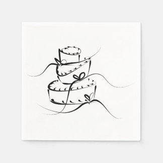 Topsy Turvy Wedding Napkins Paper Serviettes