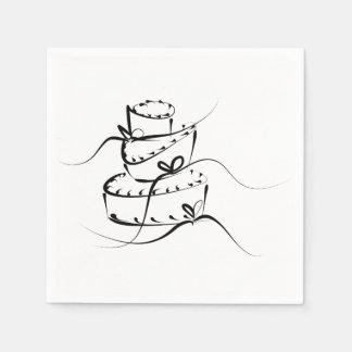 Topsy Turvy Wedding Napkins Paper Serviettes