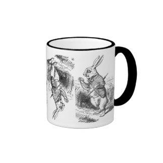 Topsy-Turvy White Rabbit Mug