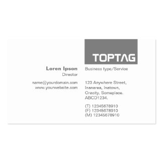TopTag v2 - 50 Percent Black Gray Pack Of Standard Business Cards