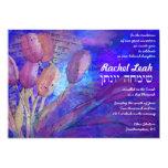 Torah and Tulips Bat Mitzvah Invitation Invite