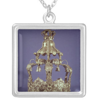 Torah Crown Silver Plated Necklace