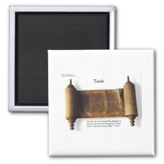 "Torah ""If Not For Myself"" Wisdom Quote Gifts & Tee Square Magnet"