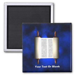 Torah Light Square Magnet