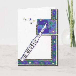 Torah Pointer Bar Mitzvah Card