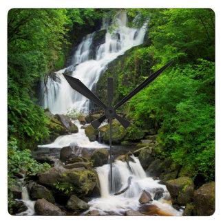 Torc waterfall scenic, Ireland Square Wall Clock