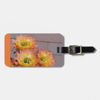 Torch cactus luggage tag