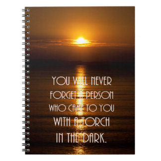 Torch In The Dark Quote Notebook