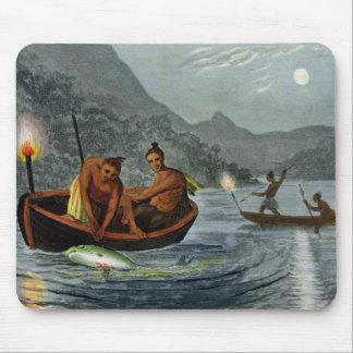 Torch Light Fishing in North America, engraved by Mouse Mat