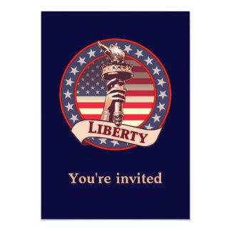 Torch of Liberty 13 Cm X 18 Cm Invitation Card