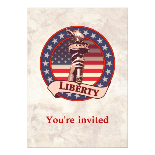 Torch of Liberty Personalized Announcements