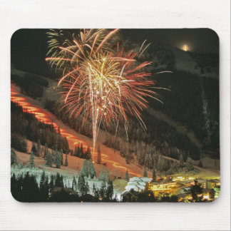 Torchlight parade and fireworks during Winter Mouse Mat