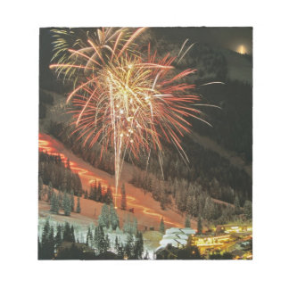Torchlight parade and fireworks during Winter Notepad