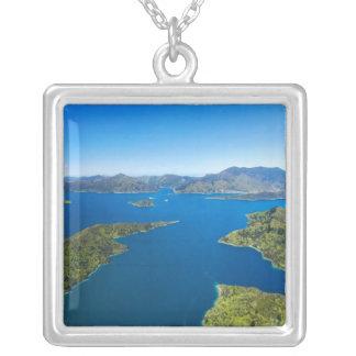 Torea Bay, Queen Charlotte Sound, Marlborough Square Pendant Necklace