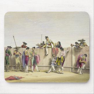 Toreros Reposing between the Bulls, 1865 (colour l Mouse Mat
