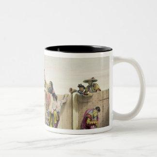 Toreros Reposing between the Bulls, 1865 (colour l Two-Tone Coffee Mug