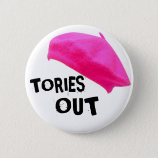Tories Out 6 Cm Round Badge