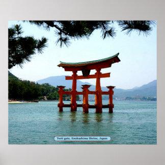 Torii gate, Itsukushima Shrine, Japan Poster