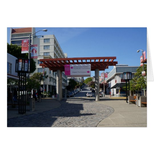Torii Gate Japantown, San Francisco Card