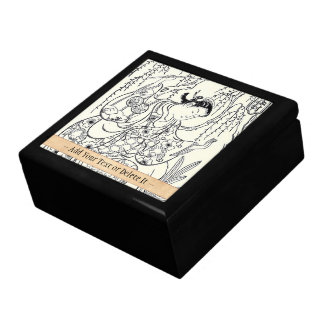 Torii Kiyomasu  dancing beauty japanese lady ink Gift Box