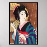 Torii Kotondo Twelve Aspects of Women, Rain Poster