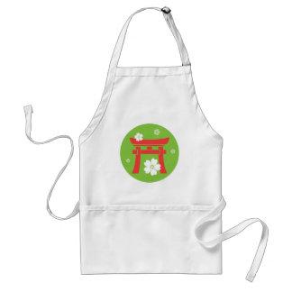 Torii (orange & green) standard apron