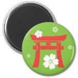 Torii (orange & green) magnet