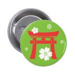 Torii (orange & green) pinback buttons