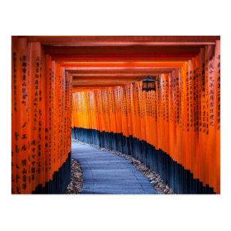 Torii Path of Fushimi Inari-Taisha Shrine Postcard