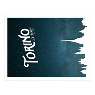 Torino by night - postcard