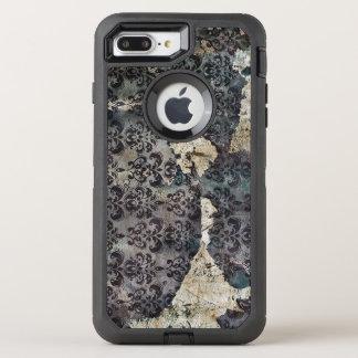 Torn and Worn Vintage Antique Floral Wallpaper OtterBox Defender iPhone 8 Plus/7 Plus Case