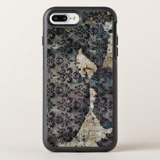 Torn and Worn Vintage Antique Floral Wallpaper OtterBox Symmetry iPhone 8 Plus/7 Plus Case