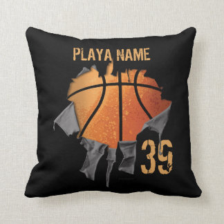 Torn Basketball Cushion