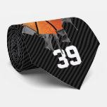 Torn Basketball (dark/personalised) Tie