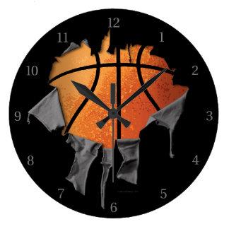 Torn Basketball Wallclock