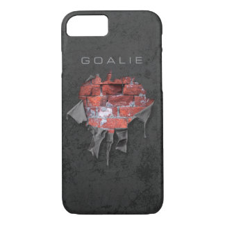 Torn Brick Wall Goalie (Hockey) iPhone 8/7 Case