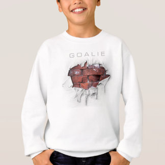Torn Brick Wall Goalie (Hockey) Sweatshirt