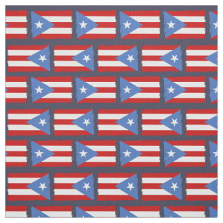 Torn Edges: Puerto Rico Flag Fabric