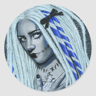 Torn Gothic Ragdoll Art Sticker