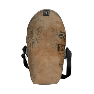 Torn Grungy Old Newspaper Background Courier Bags