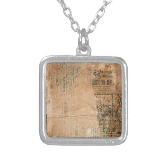 Torn Grungy Old Newspaper Background Jewelry